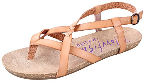 Blowfish Women's Granola Fisherman Sandal Nude Dyecut Pu 38 M EU/7.5 B(M) US