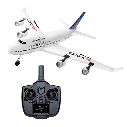 Advanced Level RTF RC Plane, 3CH Remote Control Airplane with Fixed Wing Function 2.4GHz RC Hobby Flying Aircraft for Outdoors (747)