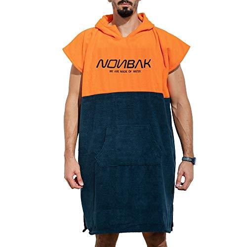 Nonbak Poncho Surf con Capucha y Bolsillo Poncho Toalla cambiarse de Ropa natación/Changing Robe (Small/Medium)