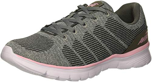 Avia Women's Avi-Rift Sneaker, Frost Steel Grey/Cameo Pink, 9 Wide US