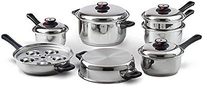 Maxam® 9-Element Steam Control™ Stainless Steel Waterless Cookware