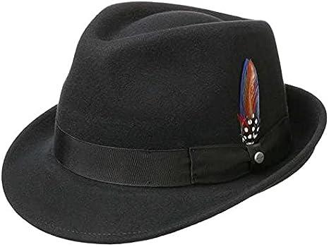 Stetson Trilby de Fieltro Elkader Mujer/Hombre - Sombrero Hombre Fedora con Banda Grosgrain Verano/Invierno