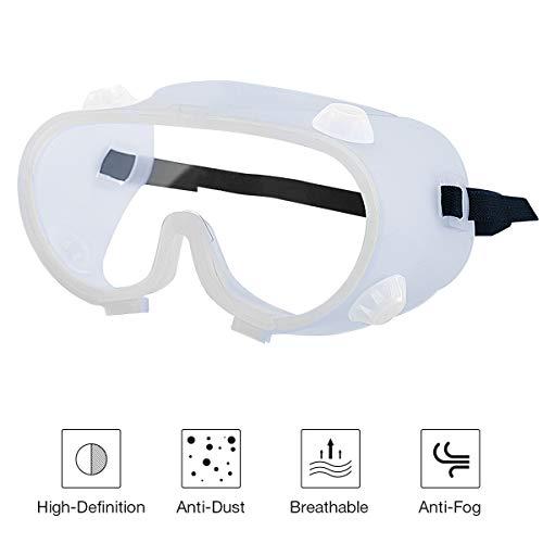 Gafas Protectoras, Gafas de Seguridad, Gafas a Prueba de Polvo, para Uso Industrial, Agrícola o de Laboratorio (1 Par)