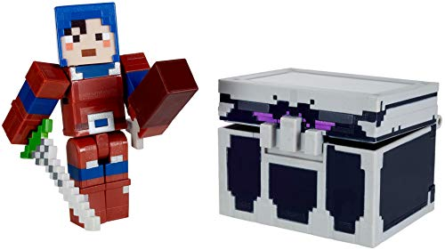 minecraft weapon toys Minecraft Dungeons Battle Chest with Figure, Weapon and Accessories, Action & Adventure Toy Based on Video Game, for Storytelling Play and Display, Gift for 6 Years Old and Up