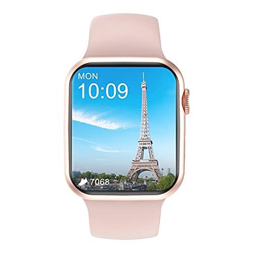 Reloj inteligente, reloj inteligente con pantalla táctil de 1.7 pulgadas, rastreador de actividad con monitor de frecuencia cardíaca, reloj inteligente impermeable IP68,para iOS Android (color dorado)