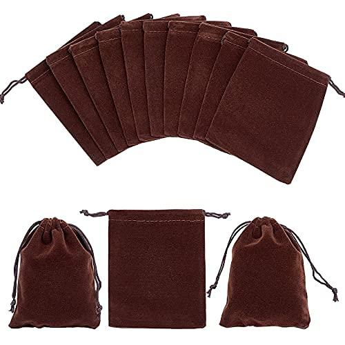 30 bolsas de terciopelo con cordón de 12 x 10 cm, bolsas de regalo rectangulares, bolsas de almacenamiento de joyas, bolsas de dulces