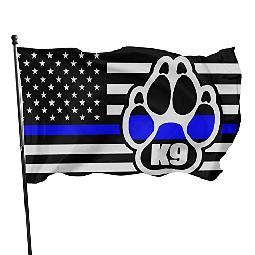 AIFRIS Police K9 Thin Blue Line 3x5 ft Flag Brass Gaskets are Less Prone to Rust and 100% Polyester is More Durable