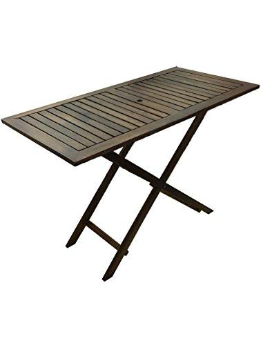 P&J Mesa plegable de madera, color oscuro, 90 x 60 cm