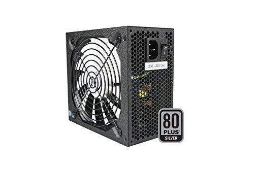 Tacens 1RVIIAG800 - Alimentatore per PC, 800W, PFC Attivo, ATX, Ventilatore 14cm, 12V, 14db, 80 Plus Silver, Efficiencia del Sistema +87%, Nero