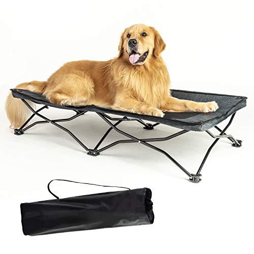 YEP HHO Haustierbett, faltbar Hundebett, Reise tragbares atmungsaktives Kühlnetz schlafendes Hundebett, Grau (117 x 61 x 24cm)