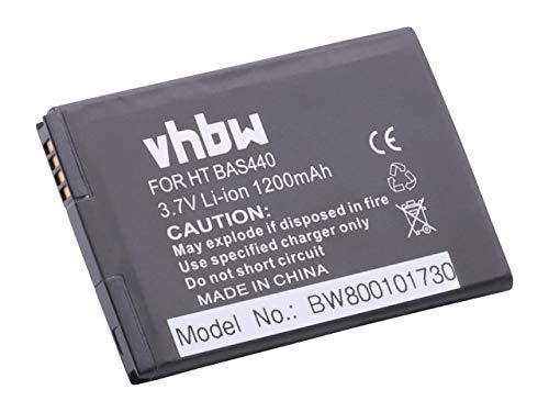 vhbw Akku passend für HTC Wildfire, Incredible S Handy Smartphone Handy (1200mAh, 3.7V, Li-Ion)