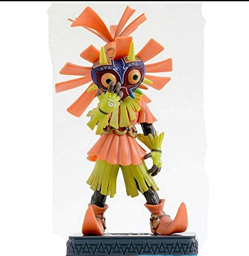 Ymdmds Escultura de Anime Coleccionable Animado Figura Juego de Zelda Skull Kid Majoras Sólo máscara de edición Limitada Majoras Mask Brinquedos Animado, Cerca de 14CM de Altura