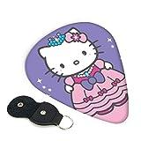 Púas de guitarra Hello Kitty 6 unidades de púa incluyendo delgado mediano pesado 0,46 mm / 0,71 mm / 0,96 mm Adulto Hombres Mujeres Teens0,46 mm