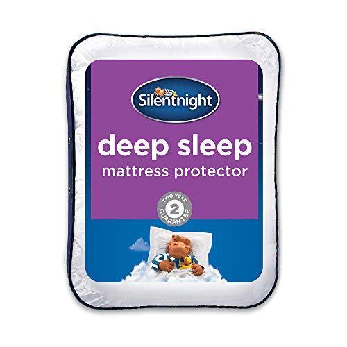Silentnight Deep Sleep Mattress Protector, Small Double, White, 120 x 190cm