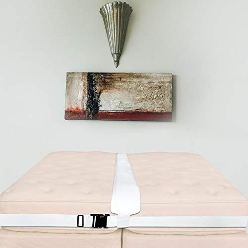 heresell - Kit convertidor de colchón Doble a King, Sistema de Doble Cama fácil para Cama de Matrimonio, Incluye Relleno de Espacio para la Cama, Correa, Bolsa de Almacenamiento