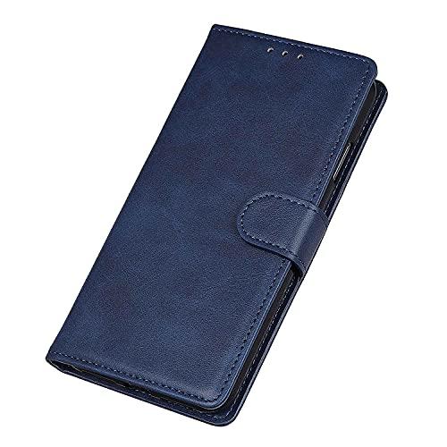 WEIOU Hülle für Xiaomi Redmi 9AT   Redmi 9A, Premium TPU/PU Leder Klappbar Schutzhülle Tasche Handyhülle mit Standfunktion und Kartensteckplätzen, Blau