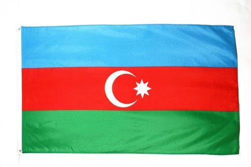 AZ FLAG Flagge ASERBAIDSCHAN 90x60cm - ASERBAIDSCHANISCHE Fahne 60 x 90 cm - flaggen Top Qualität