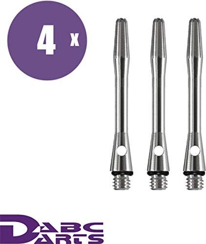 ABC Darts – aluminium dart shafts set met O-ringen – short zilver – 4 sets dart shafts