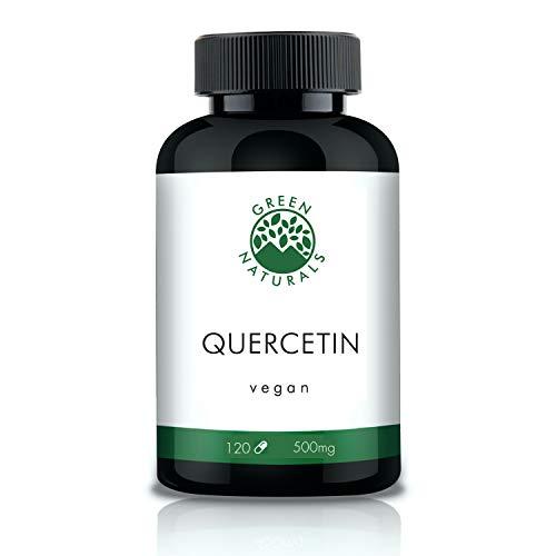 Quercetin - 120 hochdosierte Kapseln á 500mg aus deutscher Herstellung – 100% Vegan & Ohne Zusätze - Vorrat für 4 Monate. Bonus Venen Ratgeber (eBook)