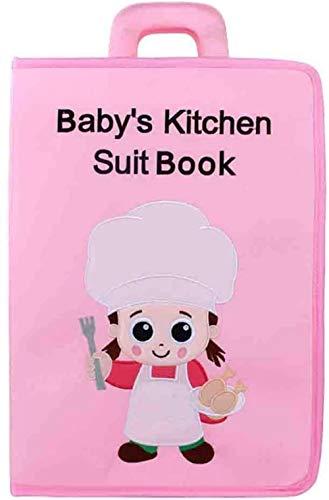 TXXM Libro tranquilo suave bebé paño libro 3D cola diseño libro tela arte actividad bordado paño libro juguete para niños Navidad