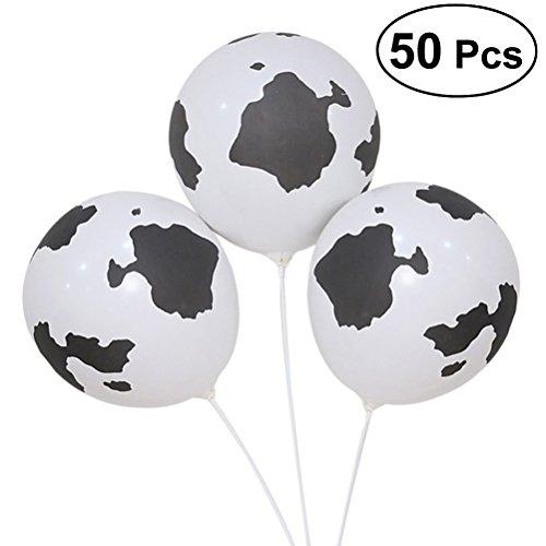 TOYMYTOY 50 Pezzi Animale Palloncini di Lattice Party Palloni Gonfiabili mucca Festa di Compleanno Decorazione Bambini Regalo,30cm
