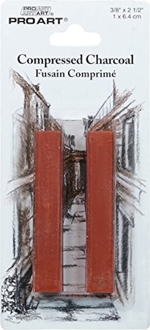 Pro Art Compressed Charcoal 2 Per Card, Sanguine