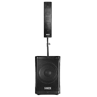 VONYX VX1200 2-Way Full Range Speaker Subwoofer System DJ PA Column Array 750W