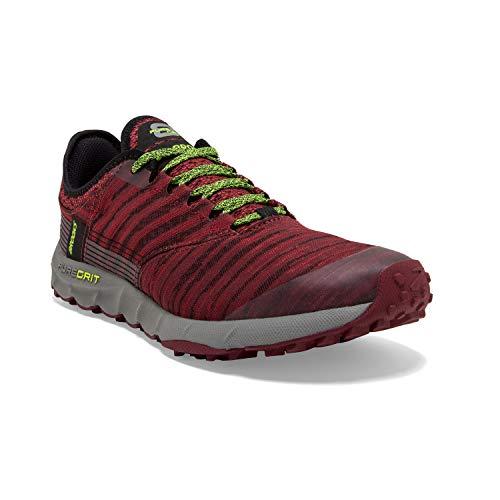 Brooks Mens PureGrit 8 Running Shoe, Biking Red/Red/Nightlife