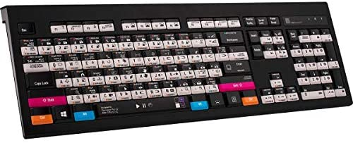 Logickeyboard Astra PC Wired Backlit Keyboard for Adobe Premiere Pro After Effects Software product image