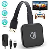 TedGem Dongle WiFi, Dongle WiFi HDMI WiFi Display Dongle 1080P HD, Wireless WiFi Display Dongle WiFi TV Supporta Windows 8.1 /Android 4.2, Adattatore HDMI Wireless (5G+2.4G)