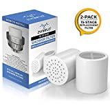 ZYNAFLO 15-Stage Shower Filter Replacement Cartridge (Pack of 2)