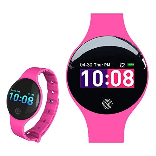 Relojes Inteligentes, L'ananas 2020 Adolescentes Chicas Muchachos Bluetooth Pantalla táctil Electrónico Relojes Teenagers Smart Watches (Rosa Caliente)