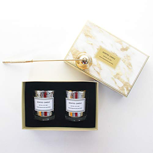 Lhh Scented Candles Set, Candles for Home Scented, Hand Poured Soy Candle, with Up to 8-11 Hour Burn Time for Christmas Birthday Anniversary Wedding Home Decor,a