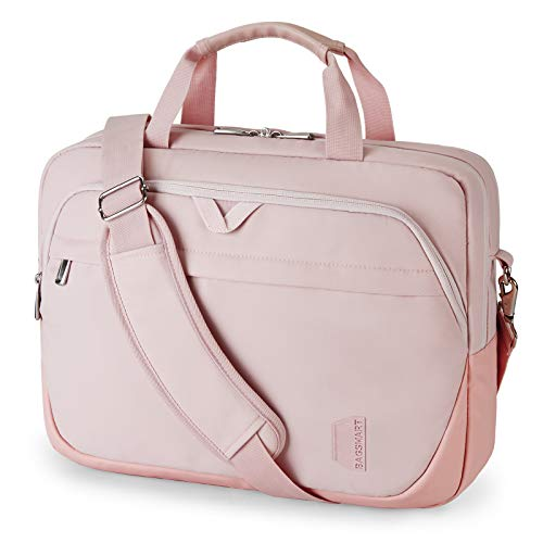 Laptop Bag,BAGSMART 15.6 Inch Briefcase Lockable Office Bag for Women,Light Pink. Buy it now for 29.99