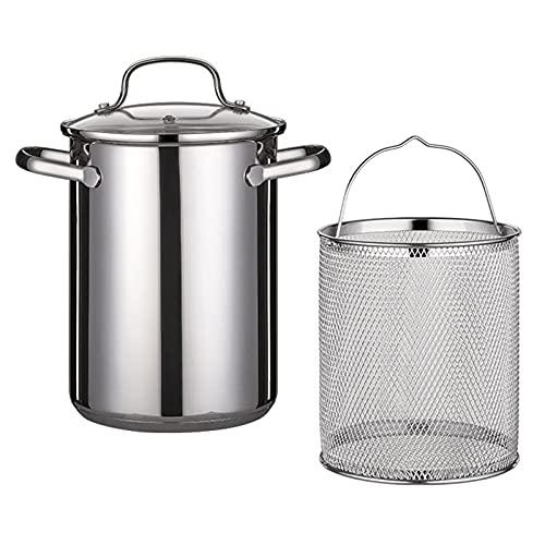 Spargeltopf Kochtopf Nudeltopf 4,1l - Topf zum Kochen von Spargel oder Spaghetti - aus Edelstahl mit Siebeinsatz - BPA-frei spülmaschinenfest