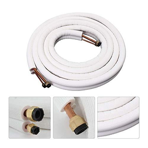 SSG Klimaanlage Rohr 1/4 3/8 isolierte Spule Kupferrohr 5m Klimaanlage Rohr Twin Line Set Aluminium-Rohr Split-Linie Draht