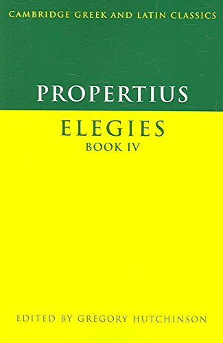[Propertius: Elegies] (By: Gregory Hutchinson) [published: October, 2006]