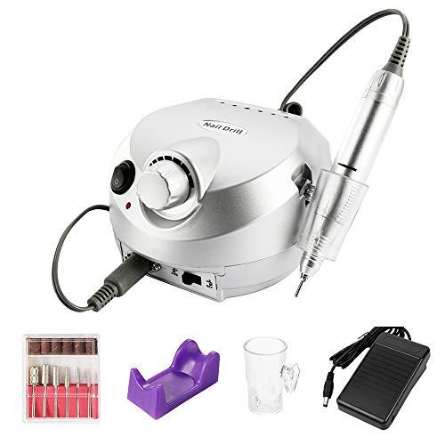 Nagelfräser Anself Elektrische Nagelfeile Nagelfraser fur Gelnagel Nagel Bohnermaschine Maniküre Bits Kit Maniküre Set