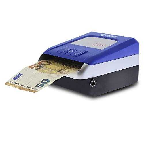 Detector de billetes falsos de Euro Yatek SE-0709, 5 métodos de detección, actualizable, cable de actualización incluido, (Actualizado a los nuevos billetes de 100 y 200€)