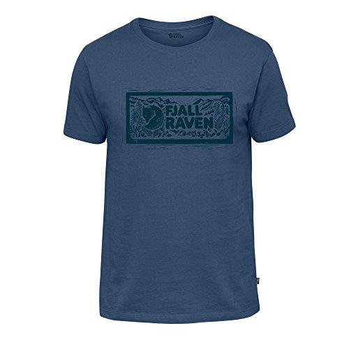 FJÄLLRÄVEN Logo Stamp Shirt, Herren XL blau (Uncle Blue)