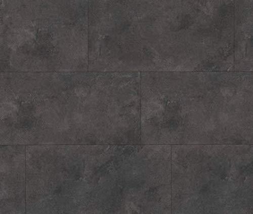 HORI® Klick-Vinylboden Steinfliese anthrazit Münster anthrazit Fliese mit Microfase I für 21,06 €/m²