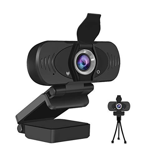 JideTech Webcam PC 1080P con Microfono, Fotocamera per Desktop Desktop USB con Messa, Webcam per videochiamate Plug And Play per Web Conference, MSN e Skype