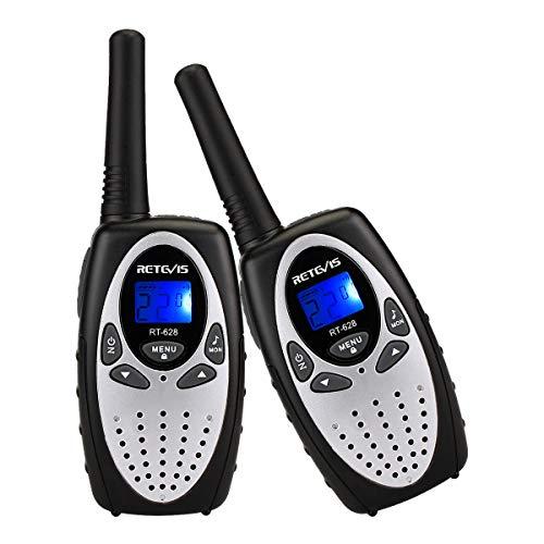 Retevis RT628 Kids Walkie Talkies VOX UHF 22 CH FRS 2 Way Radio for Kids (Silvery,2 Pack)