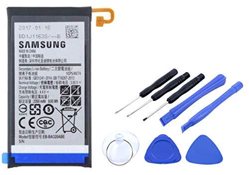2in1-SET Akku für Samsung Galaxy A3 (2017) Ersatzakku Li-Ion mit 2350mAh inklusive Werkzeug Set