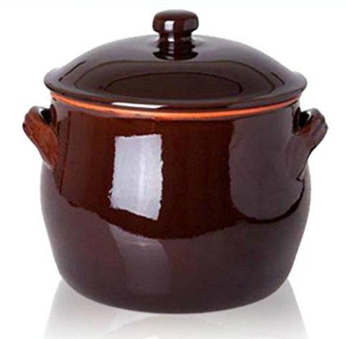 Benegiamo arte e terracotta srl PENTOLA C/COPERCH CM24X26 Terracotta Bicolore, Marrone, 24 cm