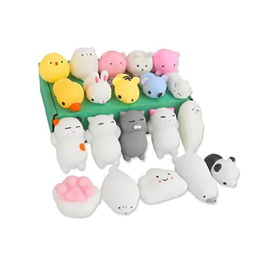 20Pcs Mochi Squishy Spielzeug Kawaii Squishy Cat Angst Relief Spielzeug für Kinder Erwachsene Feste Mini Squishies Super-Slow-Rising Kinder Spielzeug Puppe Geschenk Erwachsene Stress Relief Spielzeug
