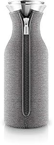 EVA SOLO – Kühlschrankkaraffe | skandinavisches Design | 1 Liter| Borrosilikat-Glas, Edelstahl, Silikon | spülmaschinenfest | 100% tropffrei – Dark Grey Wowen 1.0 l