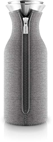 Eva Solo 567973 Koelkast Karaf Met Cover, Borosilicaatglas, roestvrij staal, siliconen, één maat