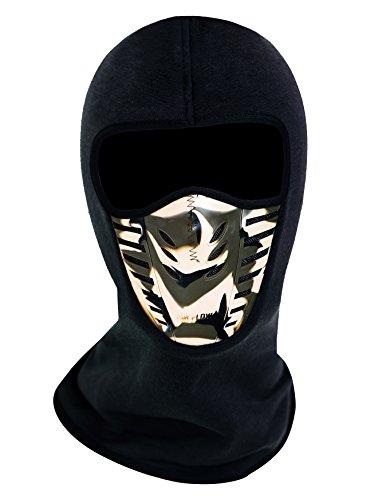 ZERDOCEAN Winter Fleece Warm Full Face Cover Anti-dust Balaclava Windproof Ski Mask Black & Camo