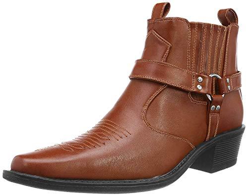 US Brass Herren Eastwood Cowboy-Stiefel/Cowboy-Stiefelette/Westernstiefel (41 EU) (Braun)